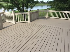 How and with what product do you stain a  deck?
