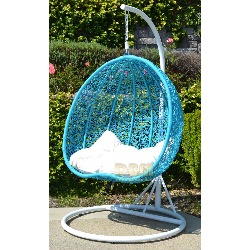 2 Persons Seater Bird Egg Nest Wicker Rattan Swing Lounge Chair Hanging Hammock In Or Out Door