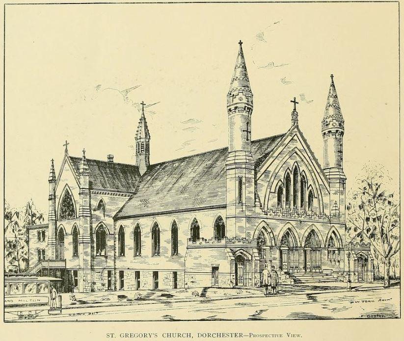 Sketch of a church