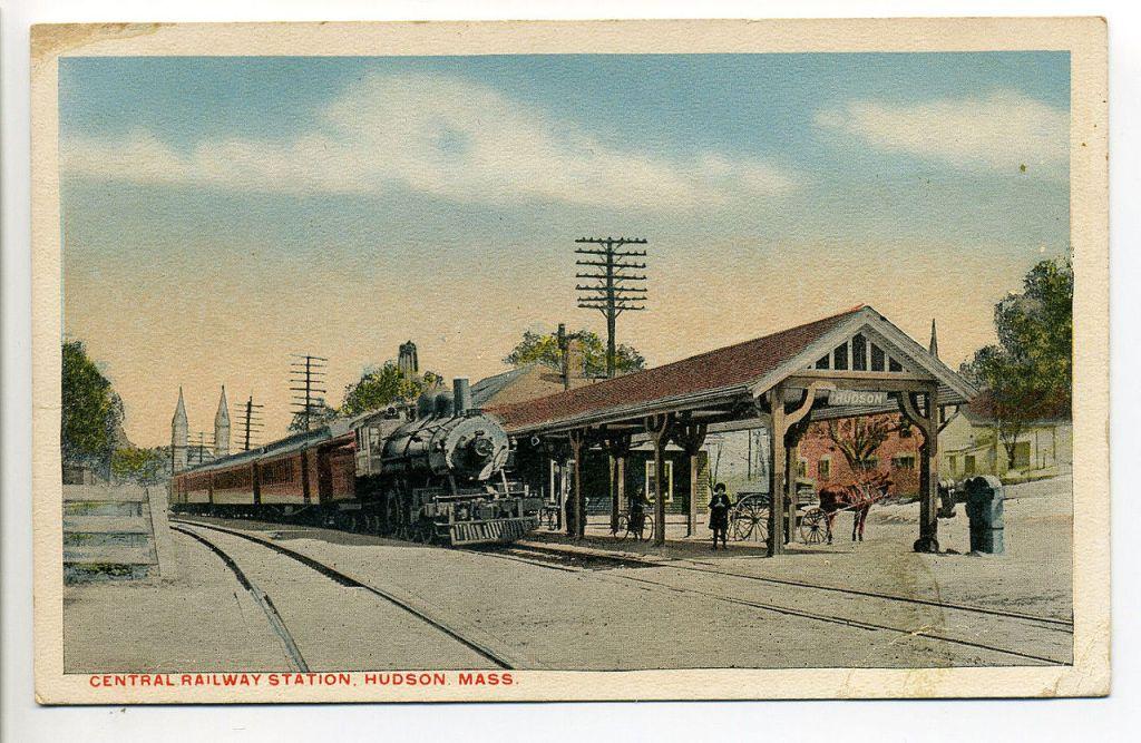 Hudson Station Postcard