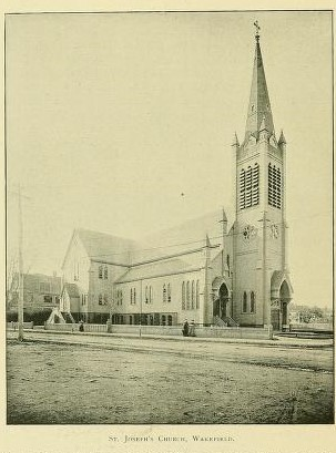 Picture of church with high steeple