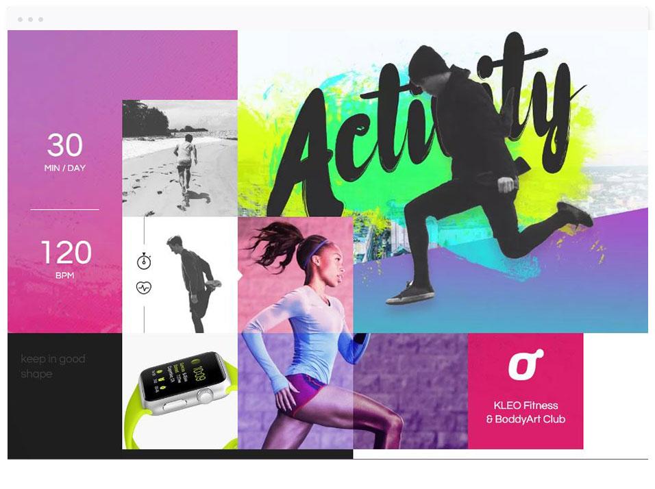 Modèle de site vitrine : Sport - DBNG agence web