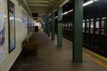 BROOKLYN - January 26, 2017: An empty Newkirk Avenue Station in Brooklyn.