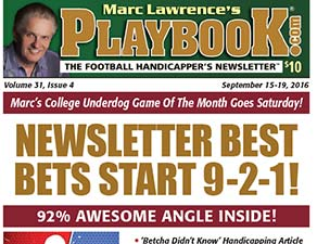 Dwayne Bryant enters Marc Lawrence's Playbook Football Newsletter Wiseguys Contest.