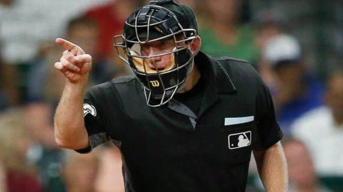 MLB home plate umpire report
