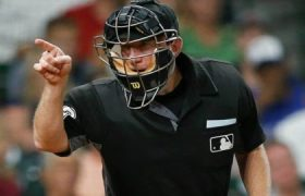 MLB home plate umpire report