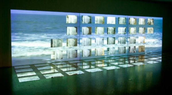 Photo Courtesy: ArtSlant Lacuna in Testimony |2003 | three-channel video installation with 72 mirrors by Navjot Altaf