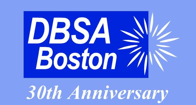 DBSA Boston 30th Anniversary Logo