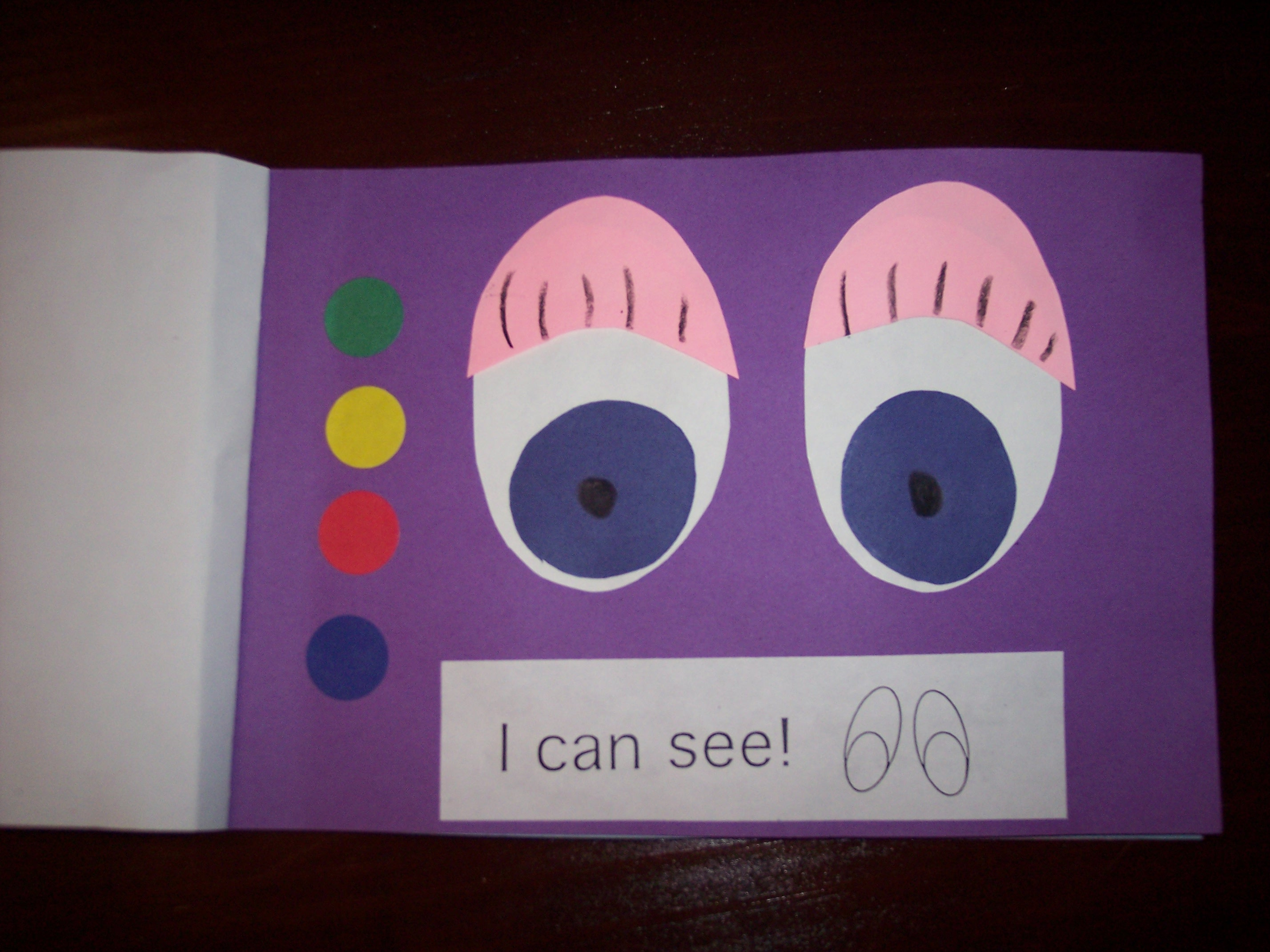 Preschool Crafts Five Senses Sight