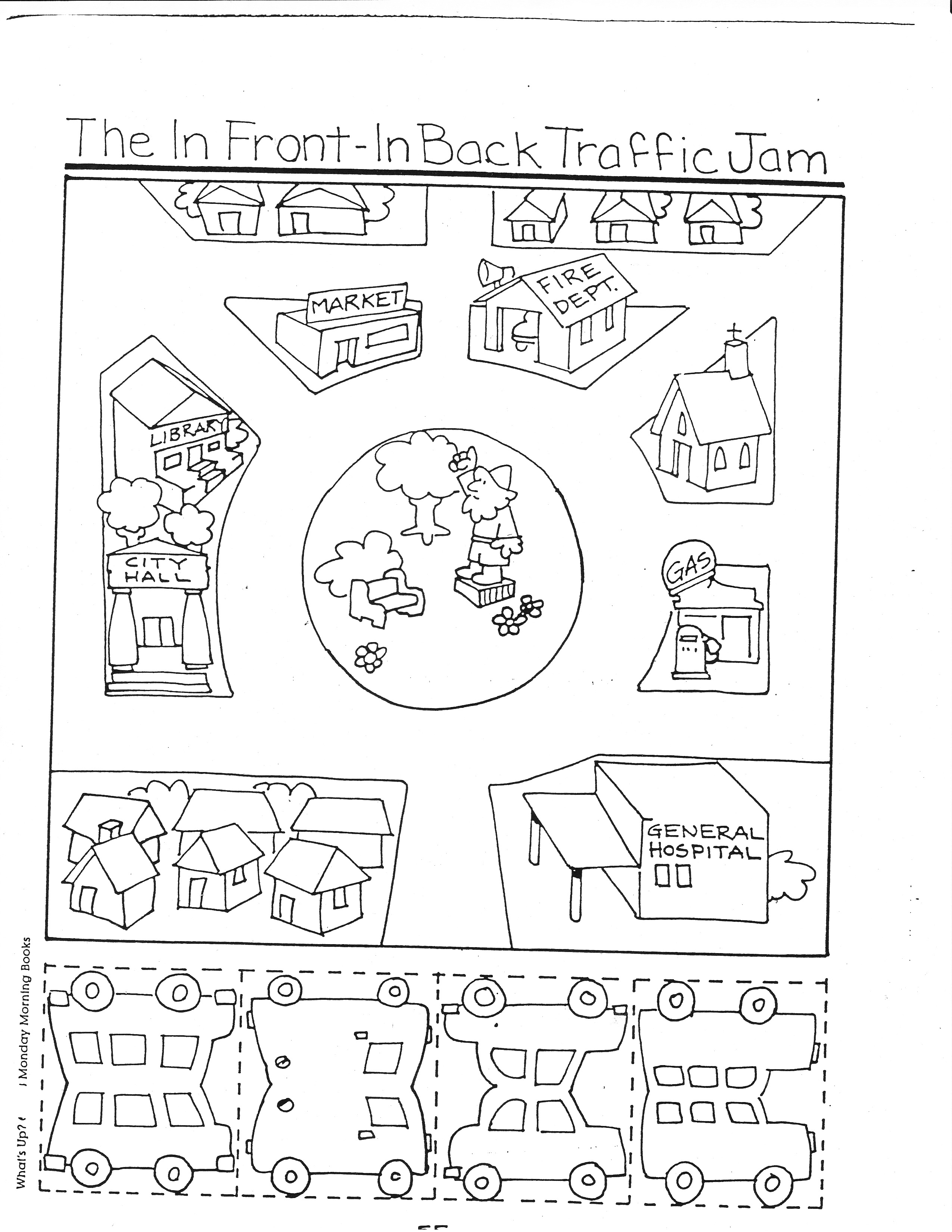 Map Worksheet For Kindergarten Students