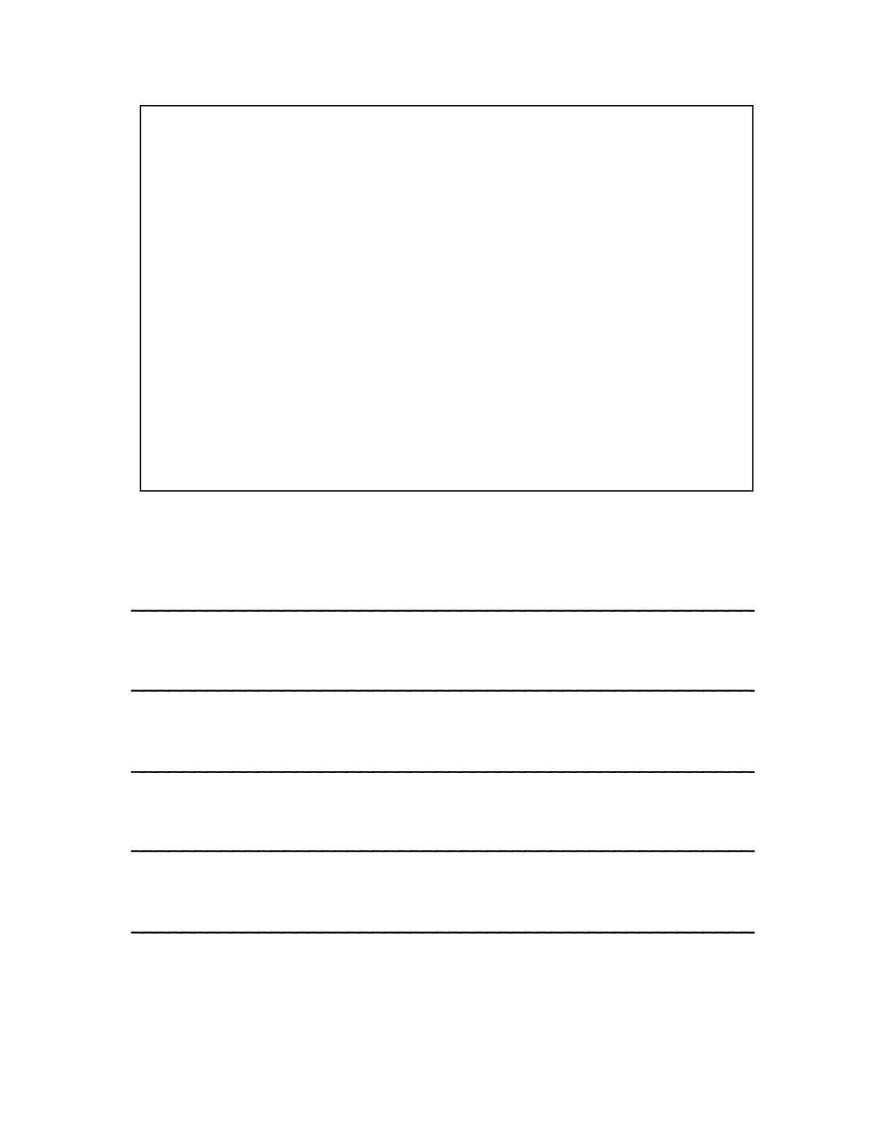 Writing Paper With Picture Space Printable Penmanship