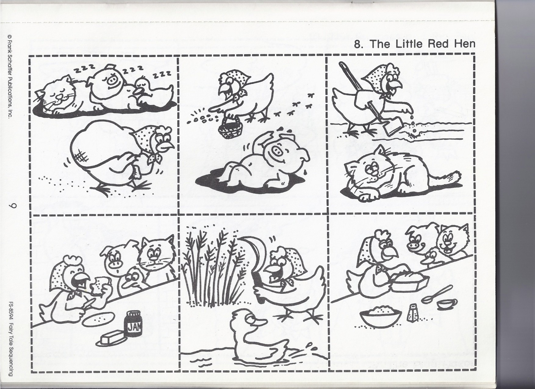 Little Red Hen Coloring Sequencing Coloring Pages