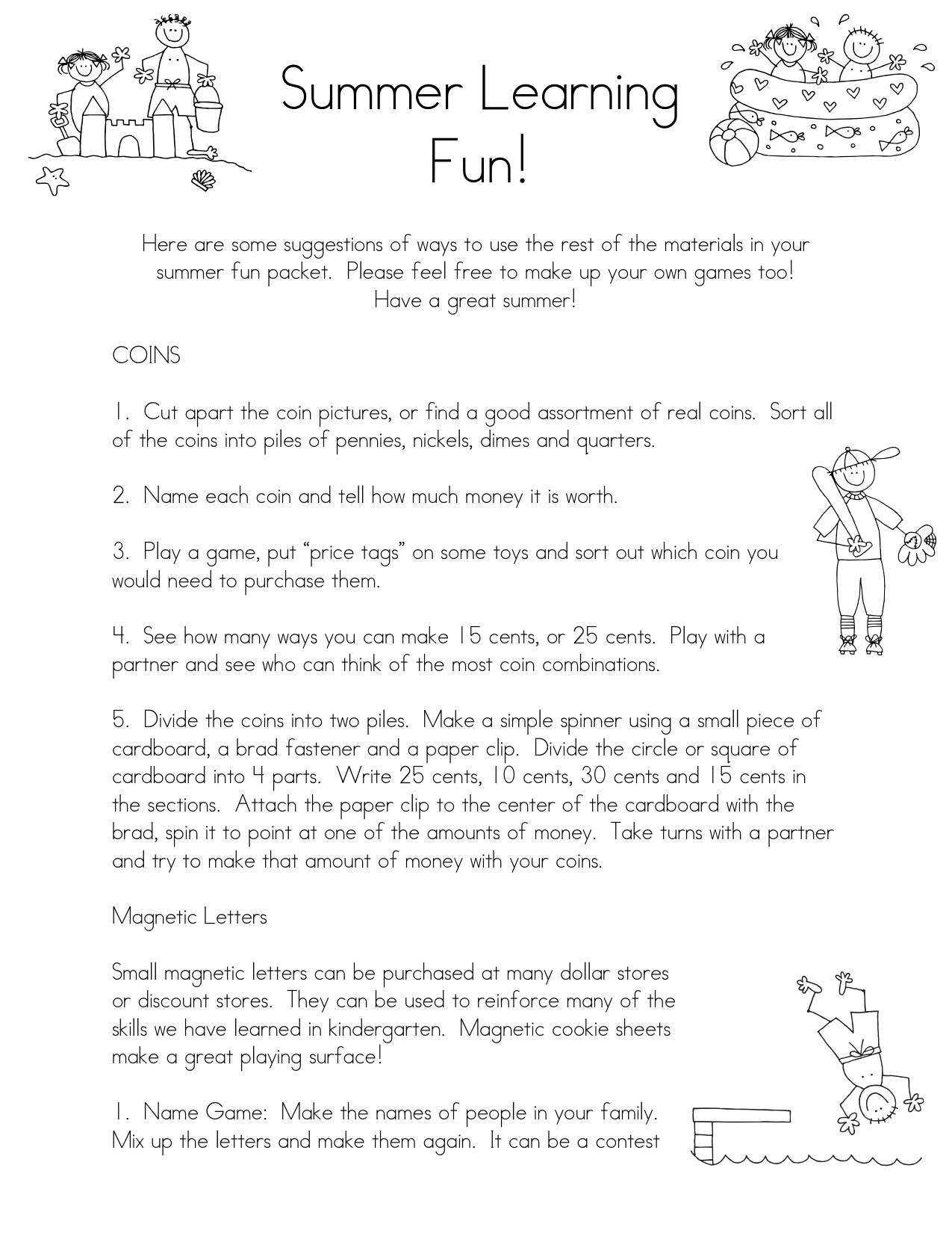 Kindergarten Parent Packet Images