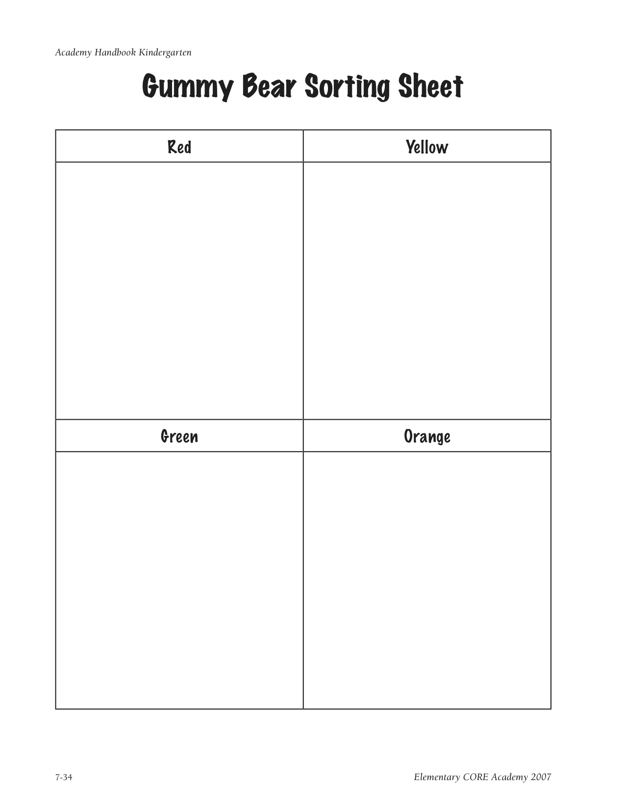 Owen Worksheet