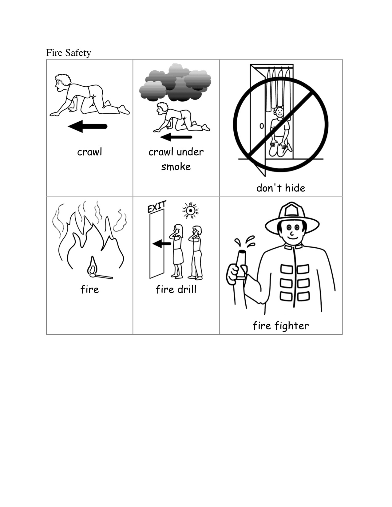 Fire Safety Tips For Kids Worksheet On Skrl