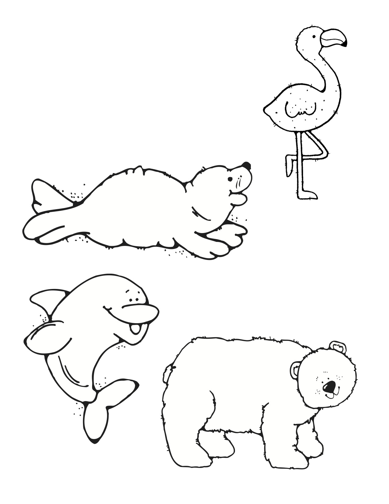 10 Little Rubber Ducks Coloring Page