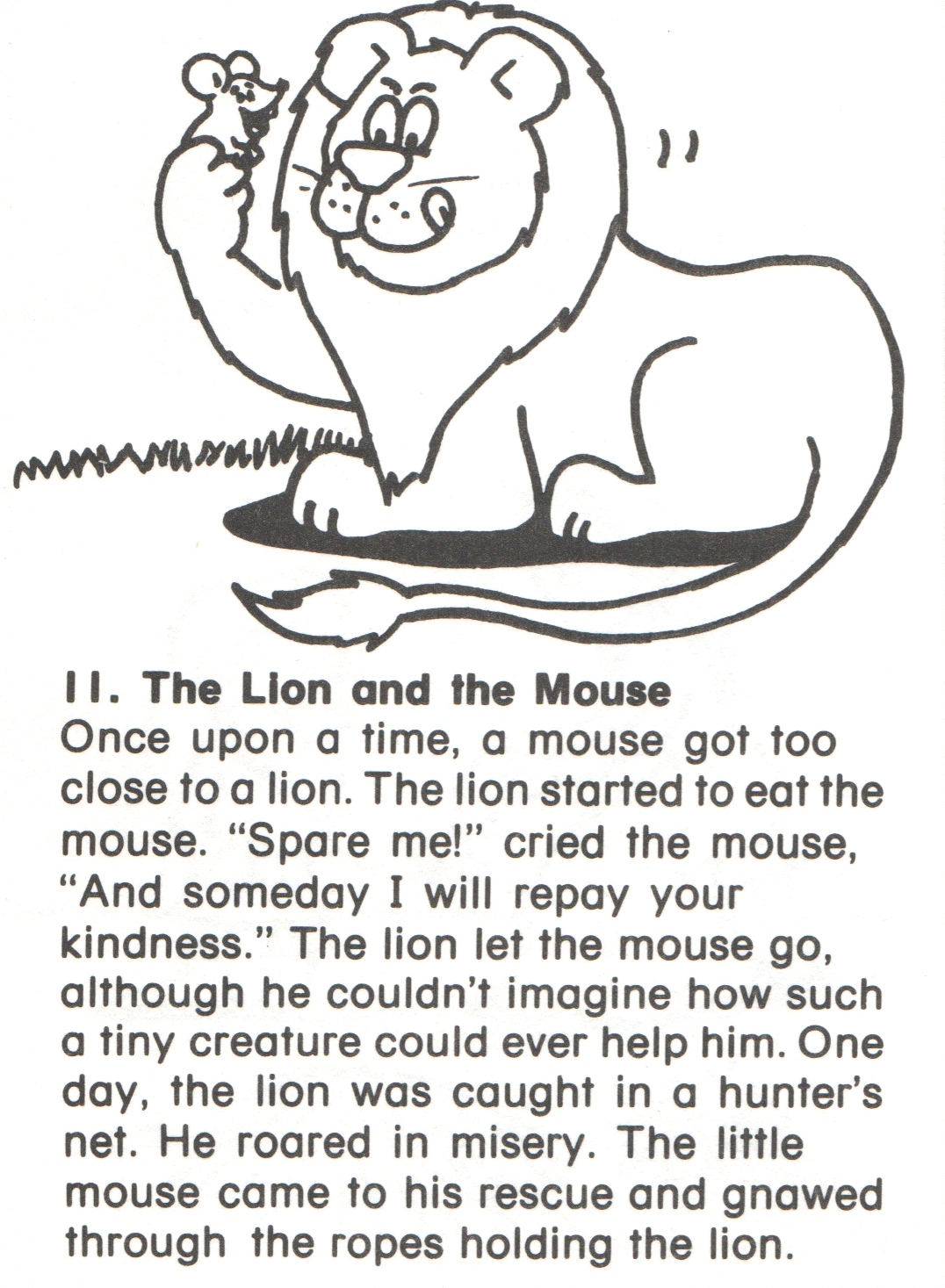 11 Lion And Mouse Story