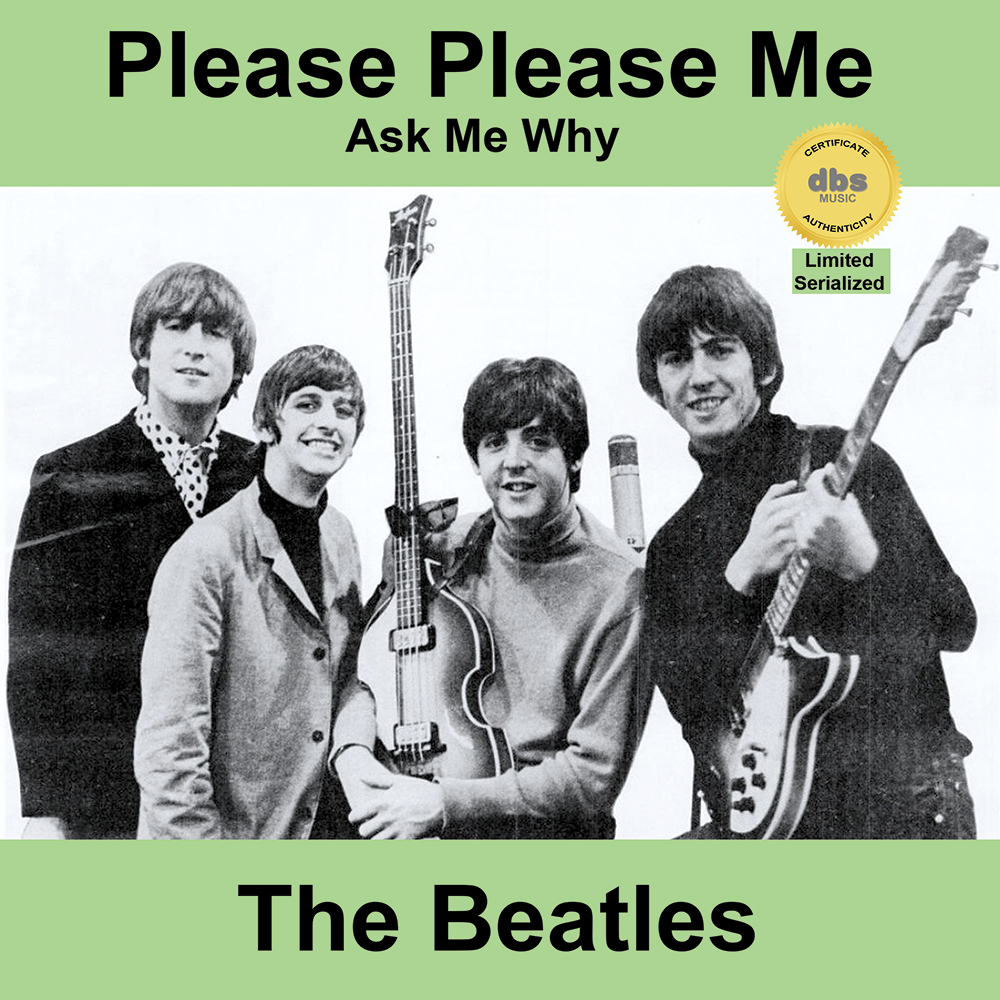 "This certifies that this 7"" record: - The Beatles - Please Please Me b/w Ask Me Why (DBS 003)"