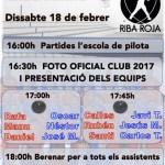 Presentación Club Pilota Riba-roja 2017