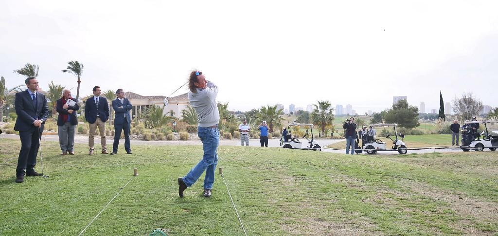 Presentación del Costa Blanca-Benidorm Senior Masters de Golf.
