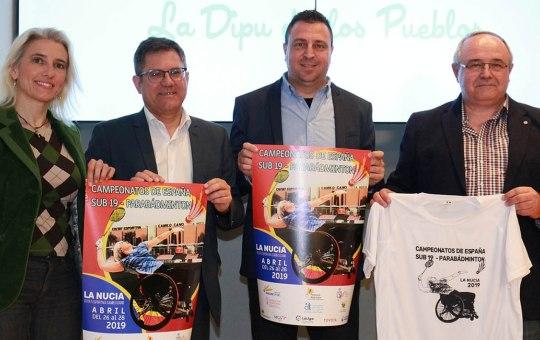 Campeonatos de España de Bádminton Sub19 y Parabádminton.