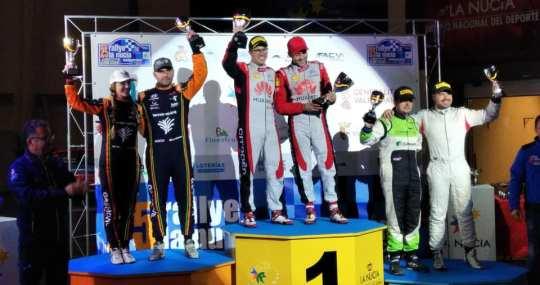 Podium Rallye La Nucía Mediterráneo