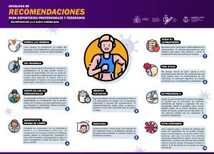 Decálogo recomendaciones deportistas federados y profesionales
