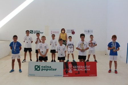 Podium categoria benjamín