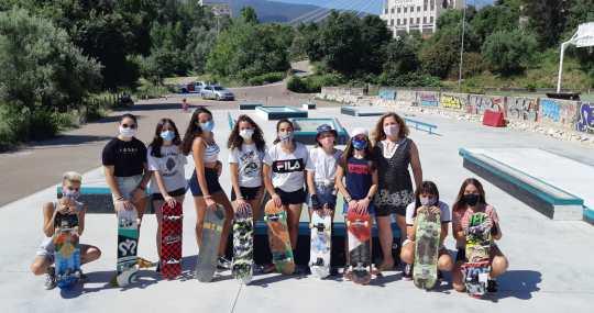 Taller adolescents skate