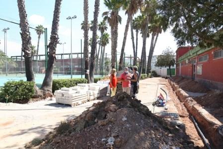 Obras mejora Polideportivo