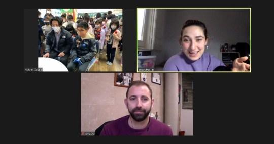 Omar Braina, Ariadna Edo y los niños de Ube