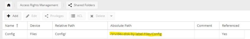 shared config folder