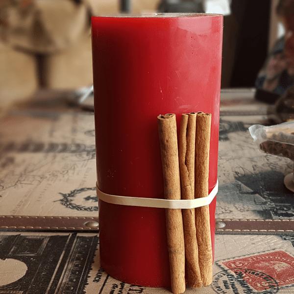 Cinnamon Stick Candle Step 2