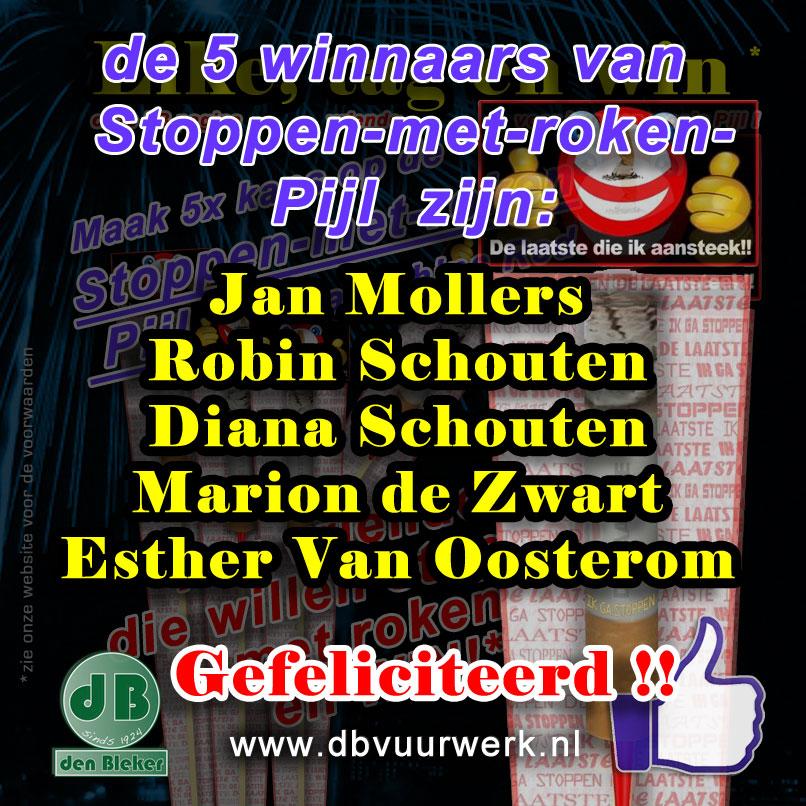 winnaars Stoppen met roken Pijl