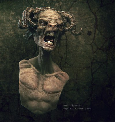 angry faun front render