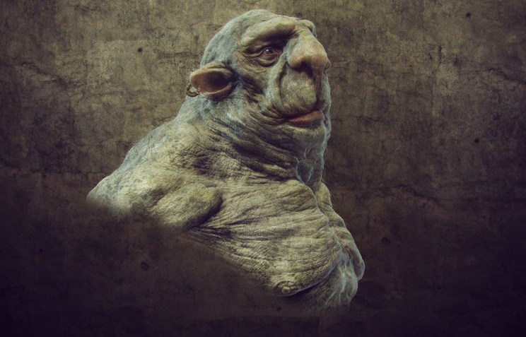 big old troll 3d render 2