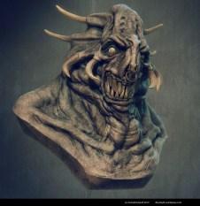 monster bust
