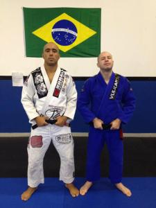 Dema and Dimitri (newly promoted to black belt)
