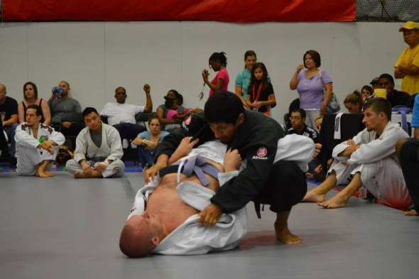 Ivan attempting to break the closed guard