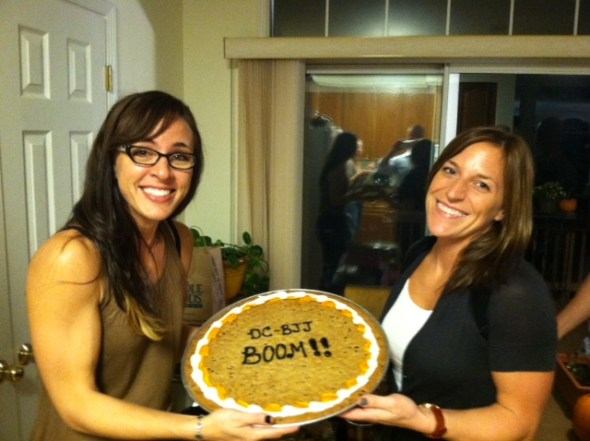 Stephanie and Nina with the 'booming!' DC JJ desert!