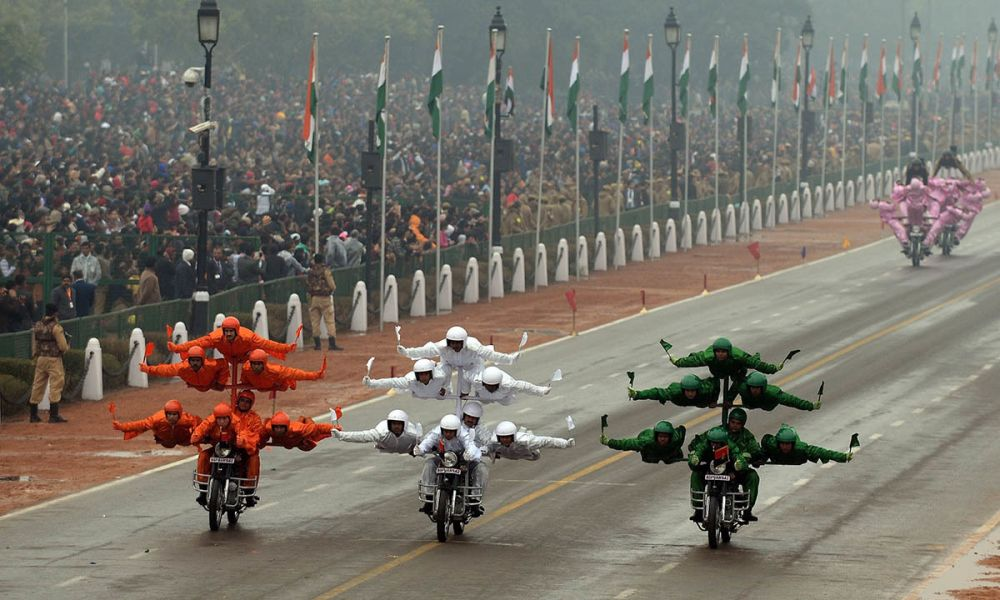 Stunt women at Republic Day