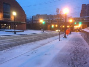Snow in NoMa, the neighbourhood I live in.