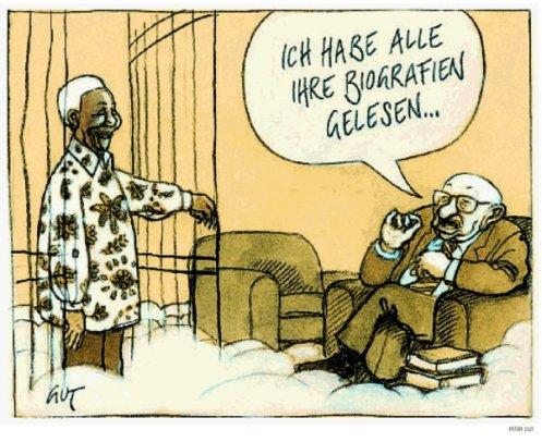 """Karikatur, NZZ """"Meinung und Debatte"""" vom 07.12.2013"""