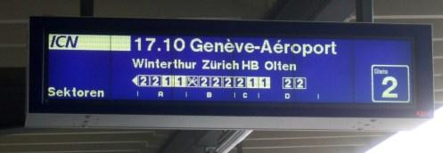 Hm, der ICN Richtung Zürich hatte eine Lücke.