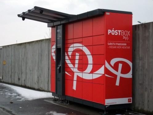 Ist zwar rot, aber sieht aus wie eine DHL-Packstation.