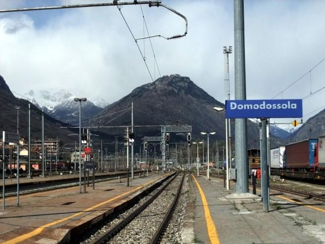 Rückfahrt mit Zug via Domodossola.