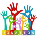 An image of donation with waving hands