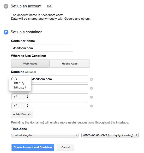 Per installare Google Tag Manager su WordPress dobbiamo impostare il contenitore