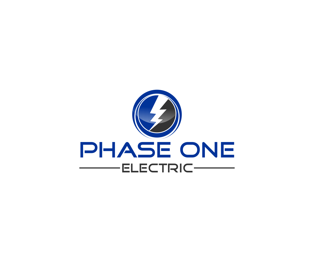 Bold Modern Electrical Logo Design For Phase One