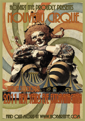 vintage new year poster